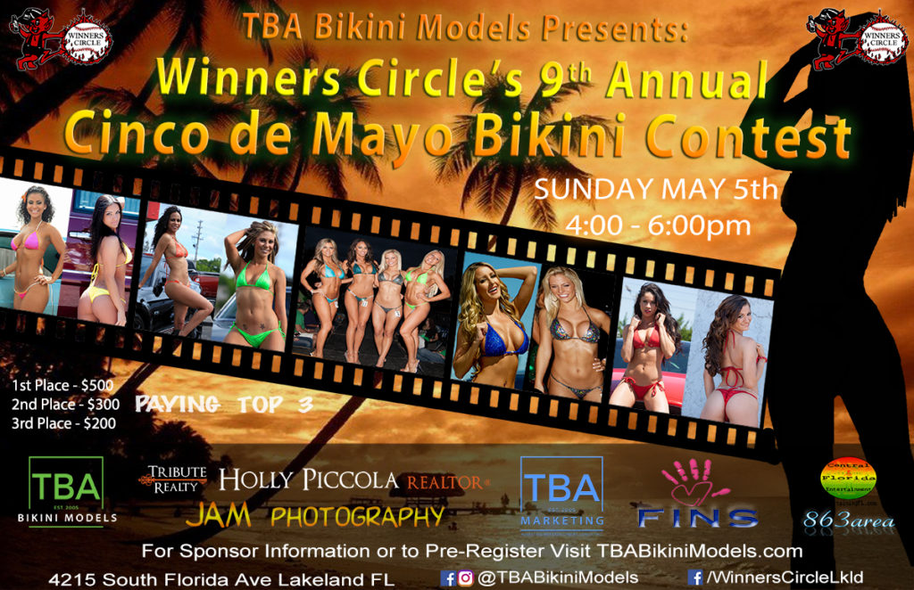 Sun. May 5th - Cinco de Mayo 2019 - 9th Annual Bikini Contest at Winners Circle - TBA Bikini Models